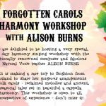 Forgotten Carols workshop with Ali Burns