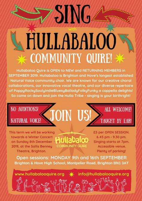 Hullabaloo Quire - Autumn Term