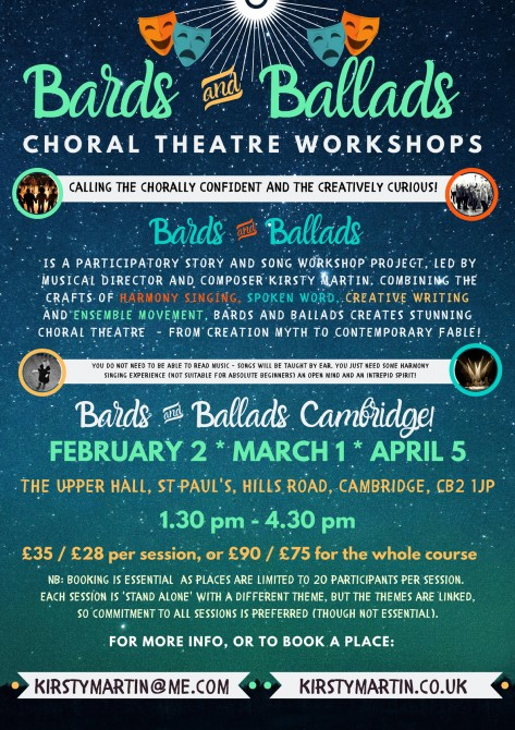 Bards and Ballads Cambridge - POSTPONED