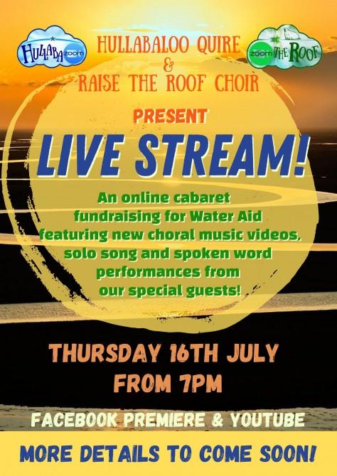 Live Stream! online fundraising cabaret